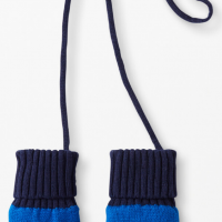Fleece-Lined Mittens with Attached String