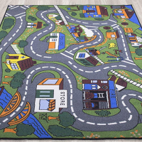 Roads and Buildings Activity Floor Mat