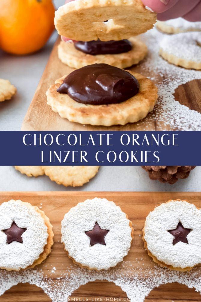 Chocolate Orange Linzer Cookies