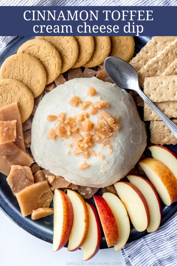 Cinnamon Toffee Cream Cheese Dip