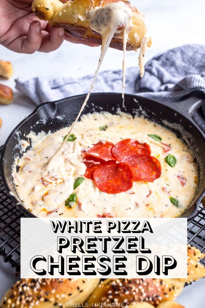 White Pizza Pretzel Cheese Dip