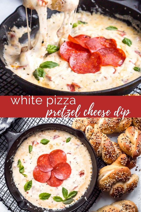 White Pizza Pretzel Cheese Dip