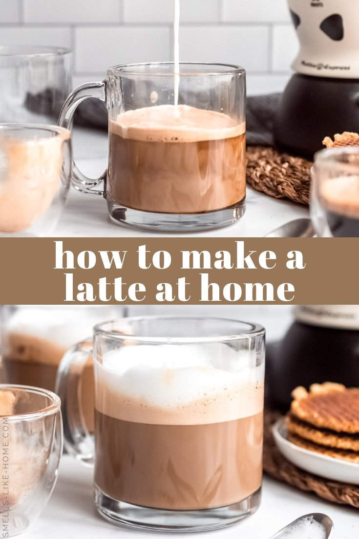 Are you ready to give up your coffee shop latte addiction and make them at home? For a fraction of the price, let's make lattes at home instead! Use any flavor sweetener, milk, or boldness of espresso you choose! #latte #howtomake #homemade #starbucks #copycat