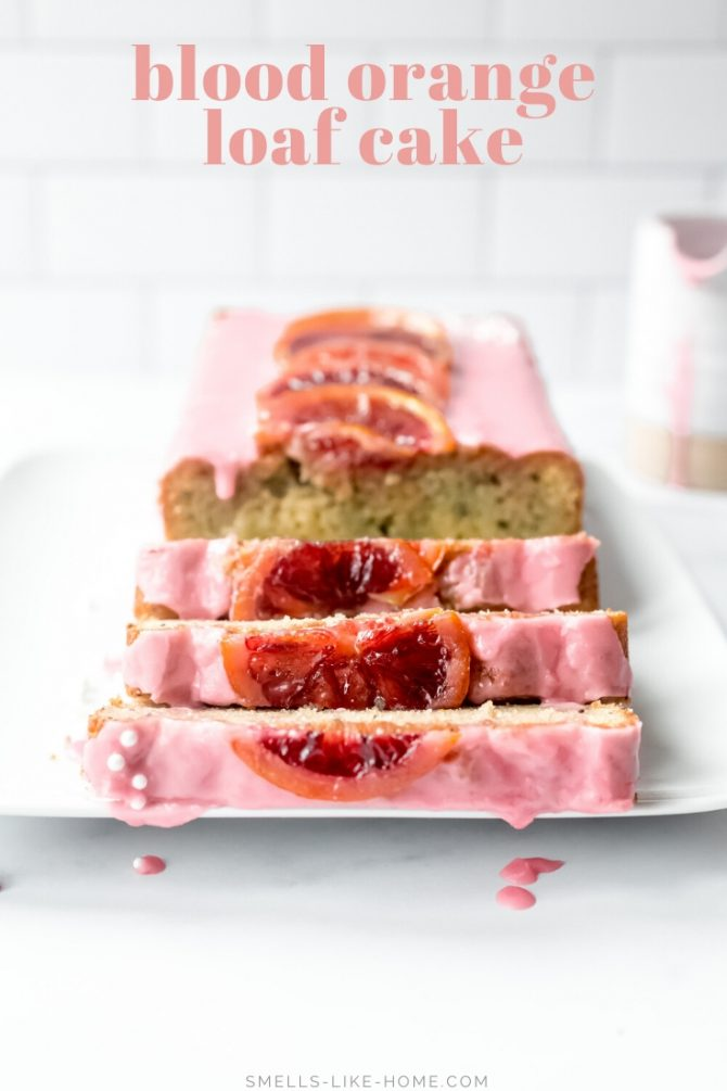 Blood Orange Poppy Loaf Cake