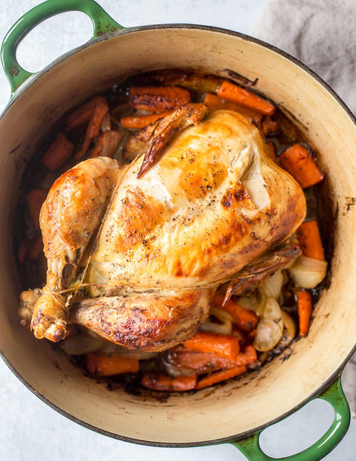 Dutch Oven Whole Roast Chicken Recipe