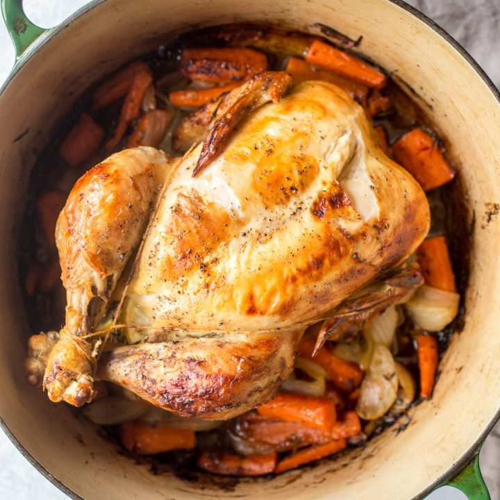 Dutch Oven Whole Roast Chicken