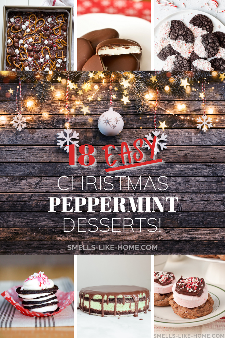 Pinnable image of 18 Easy Christmas Desserts with Peppermint