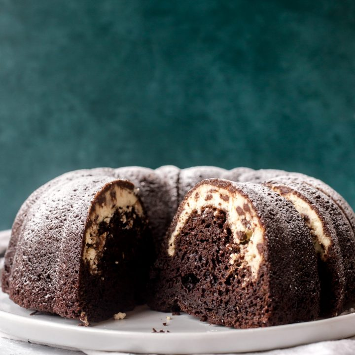 Chocolate Cannoli Bundt Cake